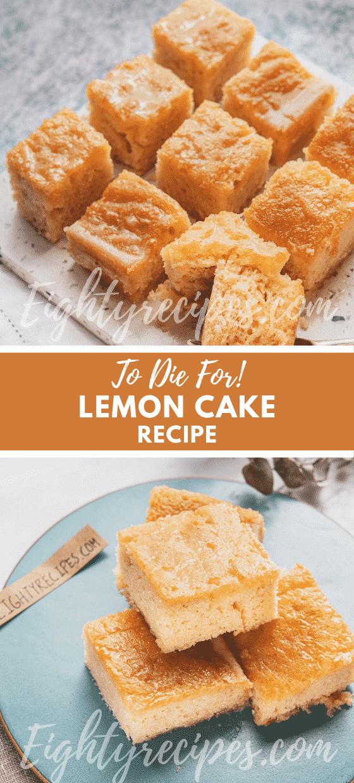 Lemon Cake To Die For Recipe